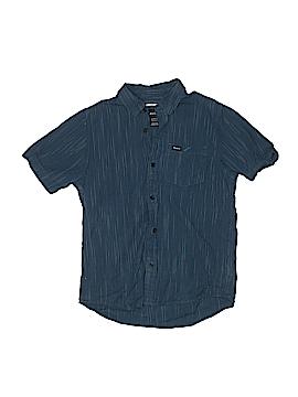 RVCA Short Sleeve Button-Down Shirt Size M (Kids)