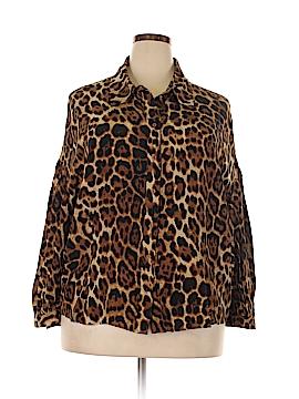 Spiegel 3/4 Sleeve Silk Top Size 20 (Plus)