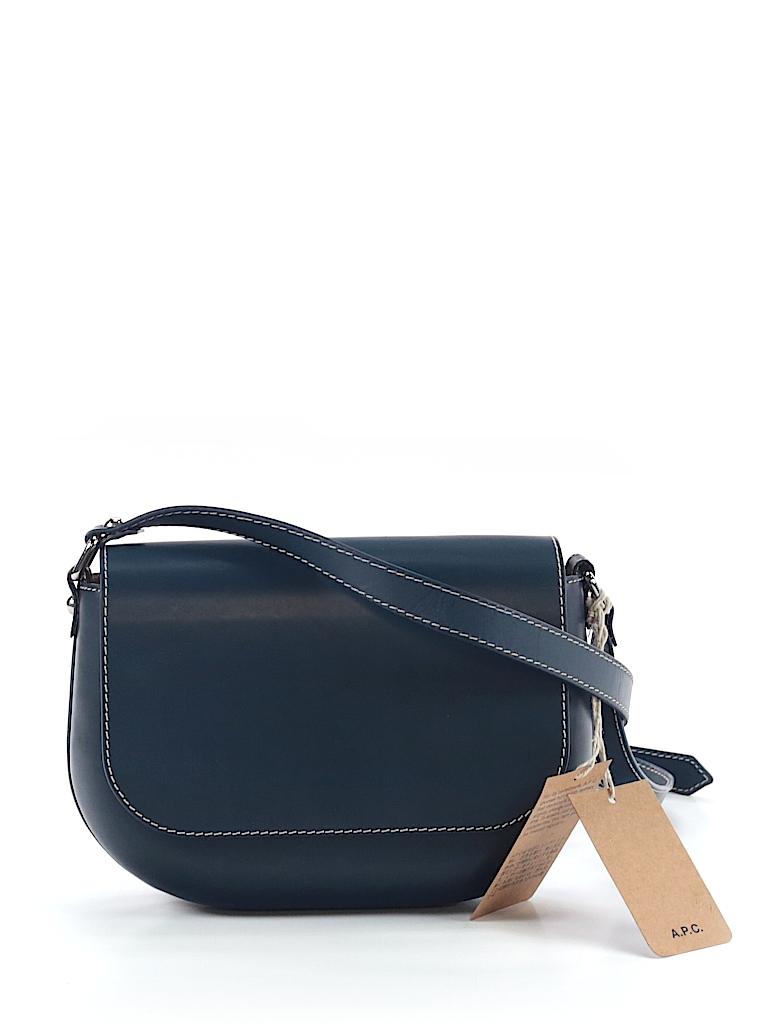 a874db6cc793 A.P.C. 100% Leather Dark Blue Leather Crossbody Bag One Size - 70 ...