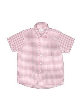 Jacadi Short Sleeve Button-Down Shirt Size 8