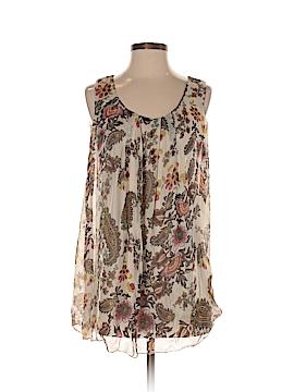 H Trend Sleeveless Silk Top Size S