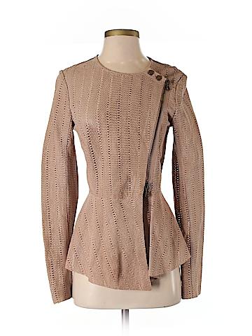 Veronica Beard Leather Jacket Size 2