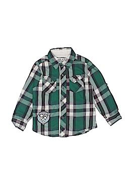 Guess Long Sleeve Button-Down Shirt Size 3T