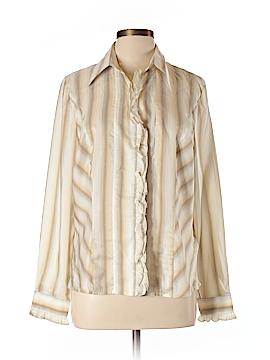 Escada Long Sleeve Silk Top Size 46 (EU)