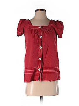 Kool Hearts Short Sleeve Blouse Size S