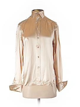 Ralph Lauren Collection Long Sleeve Silk Top Size 4