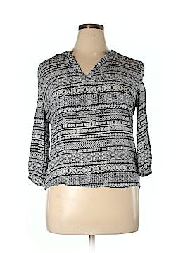 Caslon 3/4 Sleeve Blouse Size L (Petite)