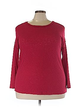 Bobeau Long Sleeve Top Size 1X (Plus)