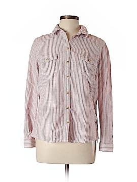 Indigo Collection Long Sleeve Button-Down Shirt Size 14 (UK)