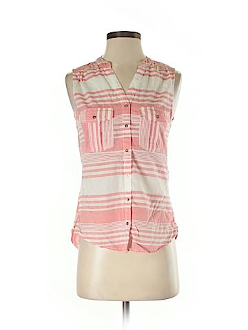 H&M L.O.G.G. Sleeveless Button-Down Shirt Size 2