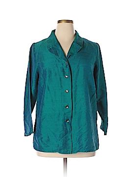 Avenue 3/4 Sleeve Silk Top Size 14 - 16  (Plus)