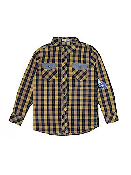 Fab Kids Long Sleeve Button-Down Shirt Size 4 - 5