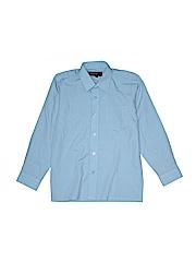 Johnnie Lene Boys Long Sleeve Button-Down Shirt Size 10