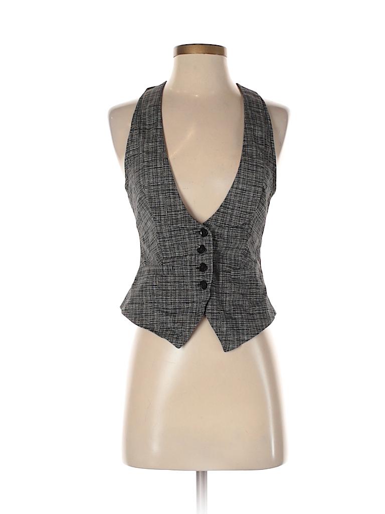 Express Design Studio Women Tuxedo Vest Size 4
