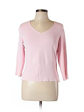 City Silk Pullover Sweater Size L
