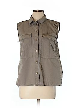 Michael Stars Sleeveless Button-Down Shirt Size L