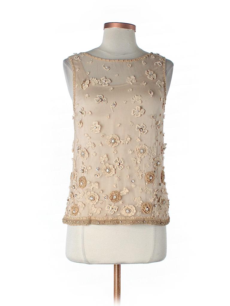 Alice + olivia Women Sleeveless Silk Top Size XS