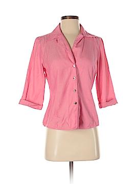 Linda Allard Ellen Tracy 3/4 Sleeve Button-Down Shirt Size 4 (Petite)