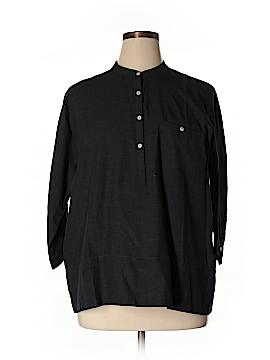 Lilla P 3/4 Sleeve Button-Down Shirt Size XL