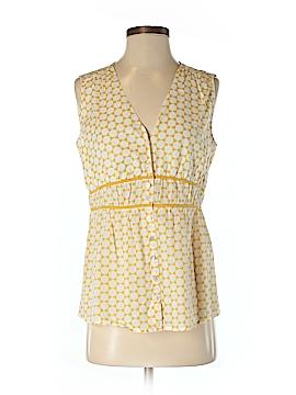 Banana Republic Factory Store Sleeveless Button-Down Shirt Size S