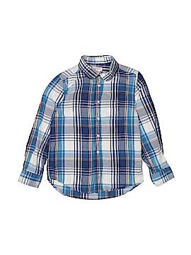 Cat & Jack Long Sleeve Button-Down Shirt Size Small kids (6/7)