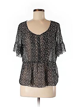 Eliot Short Sleeve Silk Top Size M