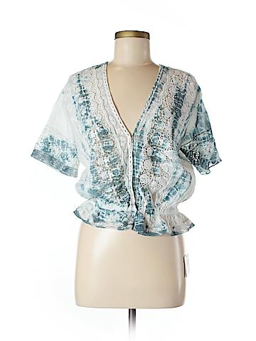 LoveShackFancy Short Sleeve Button-Down Shirt Size M
