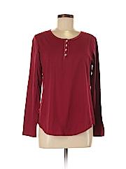 DressBarn Women Long Sleeve Henley Size M