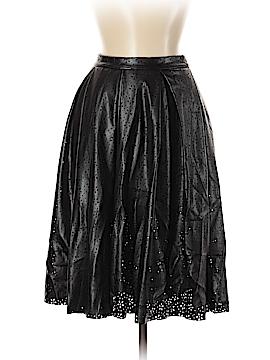 Aqua Faux Leather Skirt Size S