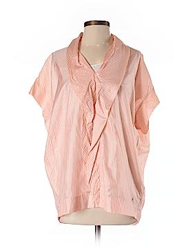 PureDKNY Short Sleeve Silk Top Size S