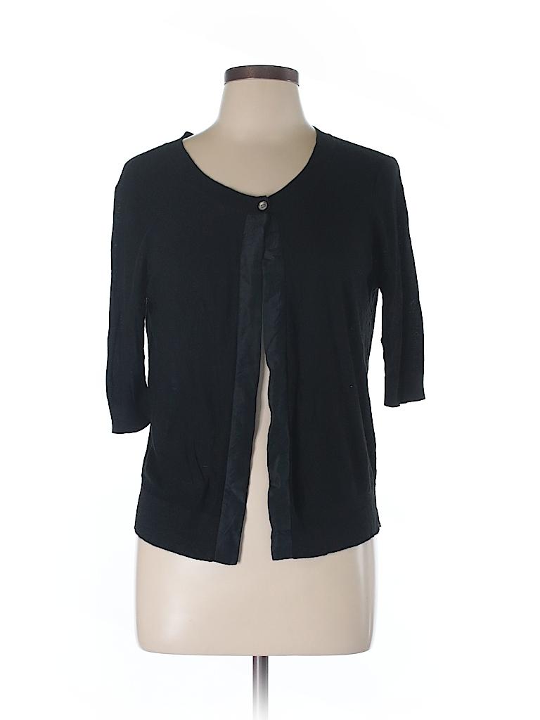 DKNYC Women Silk Cardigan Size Med - Lg