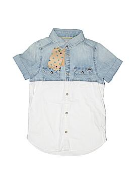 Scotch Shrunk Short Sleeve Button-Down Shirt Size 6