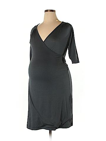 Lilac Maternity Casual Dress Size XL (Maternity)