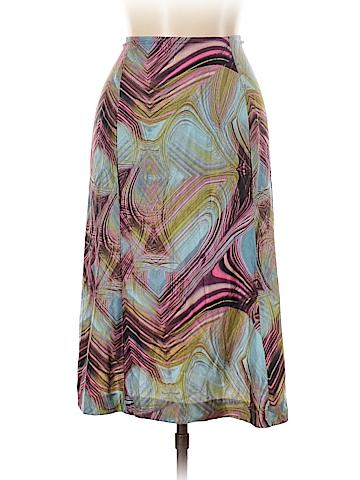 Just Cavalli Silk Skirt Size 46 (IT)