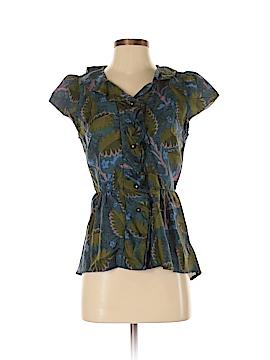 Vanessa Virginia Short Sleeve Silk Top Size 4