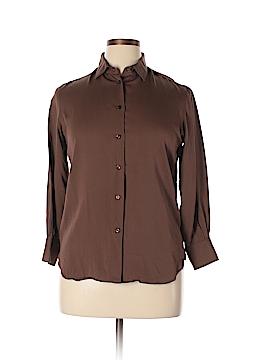 Loro Piana Long Sleeve Silk Top Size 46 (EU)