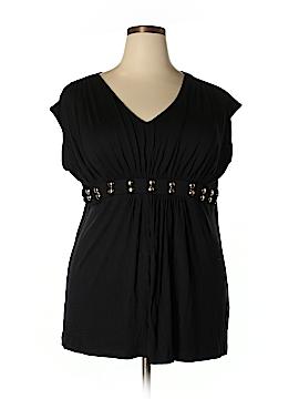 August Silk Short Sleeve Top Size 1X (Plus)