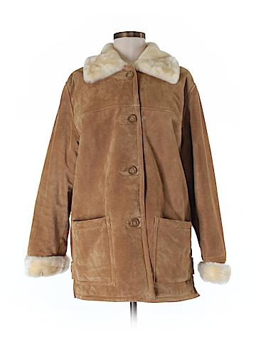 Dennis Basso Leather Jacket Size M