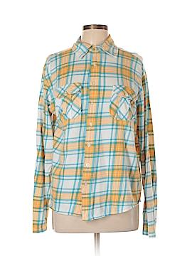 Carbon Long Sleeve Button-Down Shirt Size L