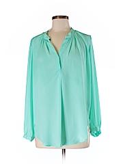 Olivaceous Women Long Sleeve Blouse Size M