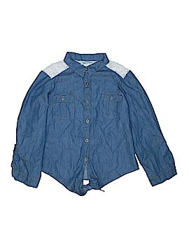 Mia Chica Long Sleeve Button-Down Shirt Size 12