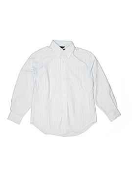 Lands' End Long Sleeve Button-Down Shirt Size 8