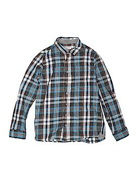 Cat & Jack Long Sleeve Button-Down Shirt Size 14