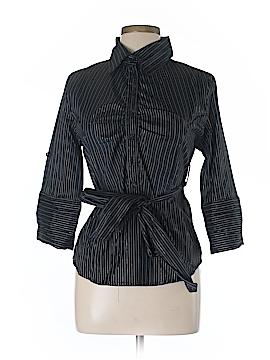 Voice 3/4 Sleeve Button-Down Shirt Size L