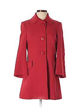 Pink Tartan Wool Coat Size 4