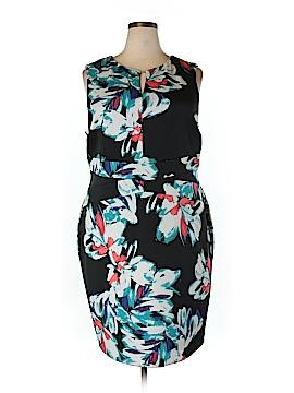 Ellen Tracy Casual Dress Size 18 (Plus)