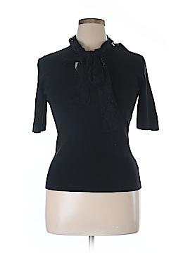 Dana Buchman Short Sleeve Silk Top Size L