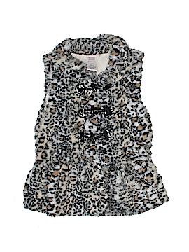 Little Lass Faux Fur Vest Size 6