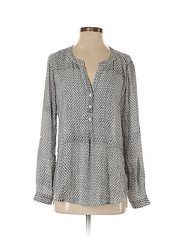 Noir Long Sleeve Button-Down Shirt Size M