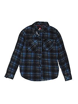 Quiksilver Long Sleeve Button-Down Shirt Size 8/10